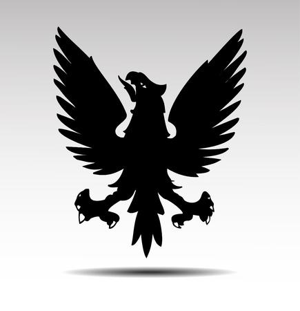 black beak: Heraldic symbols of an eagle vector