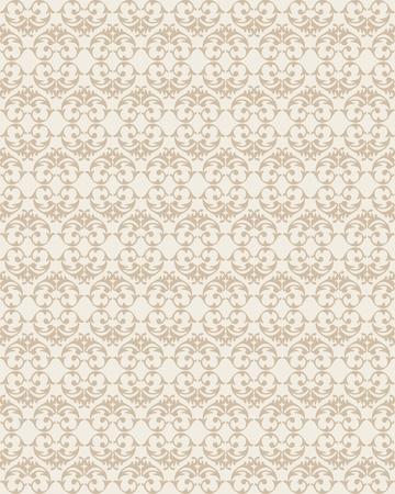 antikes papier: Nahtlose Struktur in der Form eines Ornaments Illustration