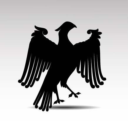 Heraldic symbols of an eagle vector Stock Vector - 10083180