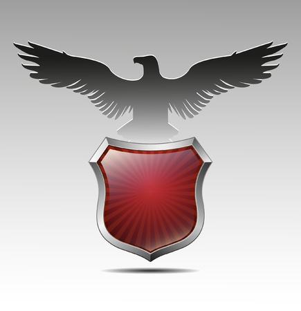 blasone: Armi in un'aquila