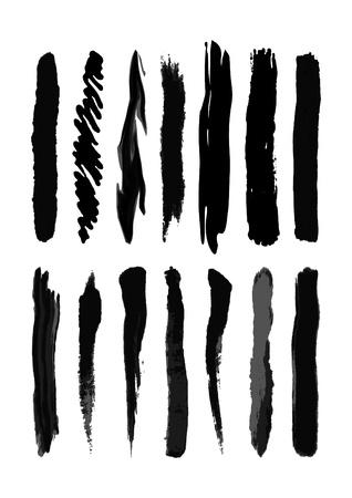 beroerte: Brush-blot vector op witte achtergrond Stock Illustratie
