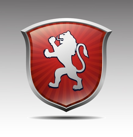 coat of arms shield: Arms with lion vector
