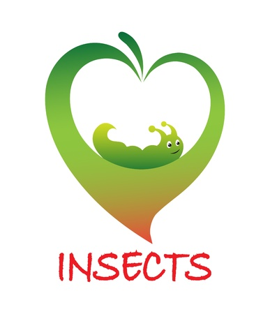 grub: Icon means struggle against insects vector Illustration