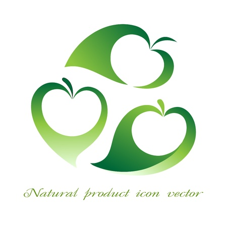 Natural product icon vector Vector