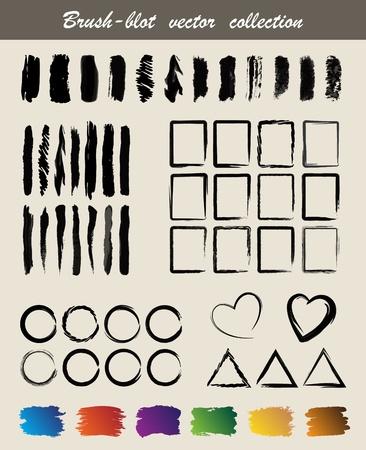 Brush-blot  vector  collection Stock Vector - 10675614
