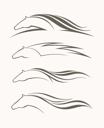 paardenhoofd: Paard symbool vector Stock Illustratie