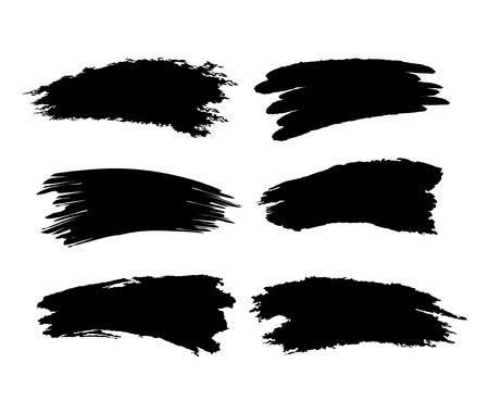 pinsel: B�rsten Sie Spuren auf wei�em Hintergrund Vektor