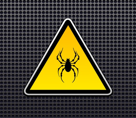 Venomous spiders sign vector
