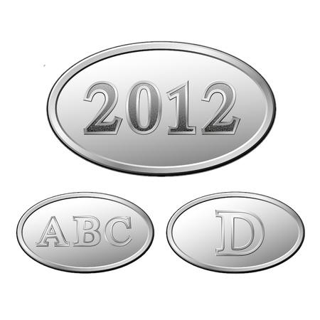 Metal symbols on white background Stock Vector - 10890559