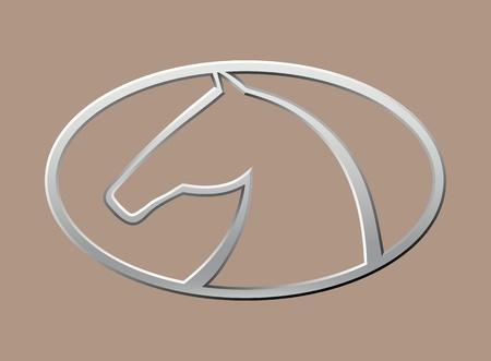 Horse symbol vector Stock Vector - 10927703