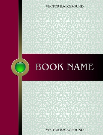 Cover book vector Vector