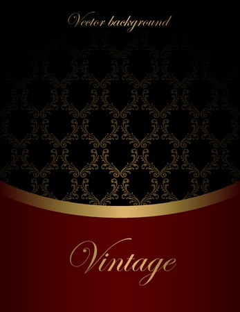 luxurious: Vintage vector background Illustration
