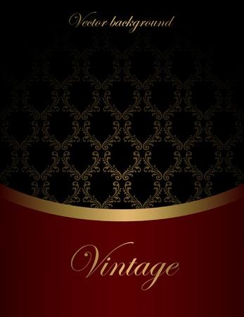 luxurious background: Vintage vector background Illustration