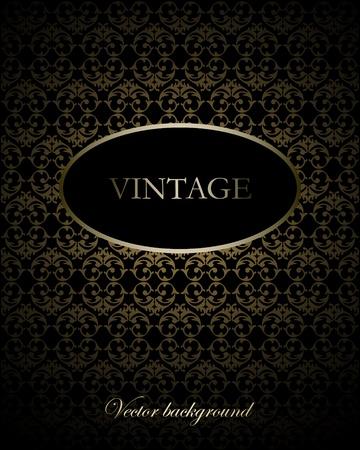elegância: Vintage vector background Ilustração