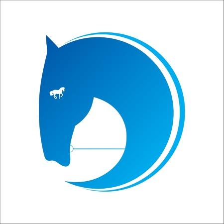 freedom logo: Caballo s�mbolo Vectores
