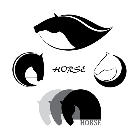 horse harness: Horse symbol Illustration