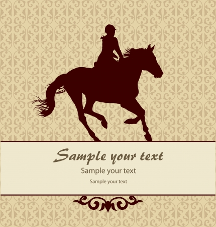 Patten background with horse Vector
