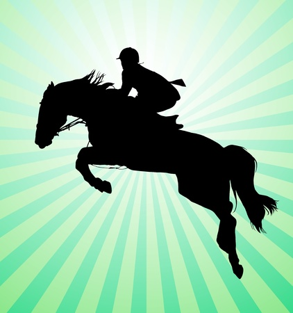 Carrying out horse with horseman Stock Vector - 11183766