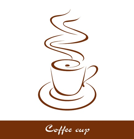 steaming coffee: Coffee cup