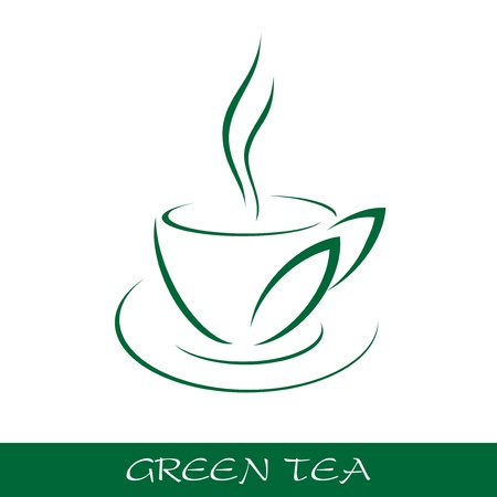 brown cup tea: Cup tea symbol Illustration