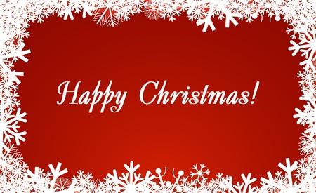 vanish: Christmas and New Years framework. Happy Christmas! Illustration