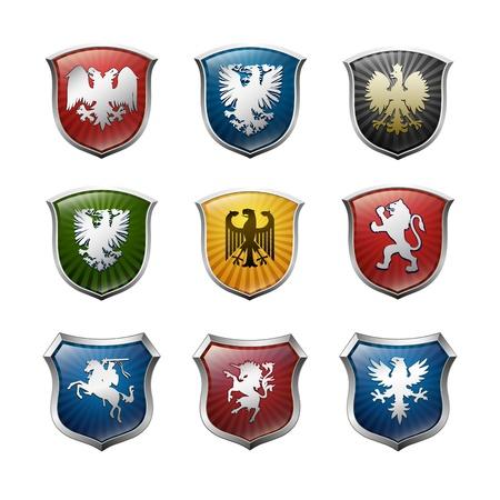 escudo de armas: Armas de la familia de vectores