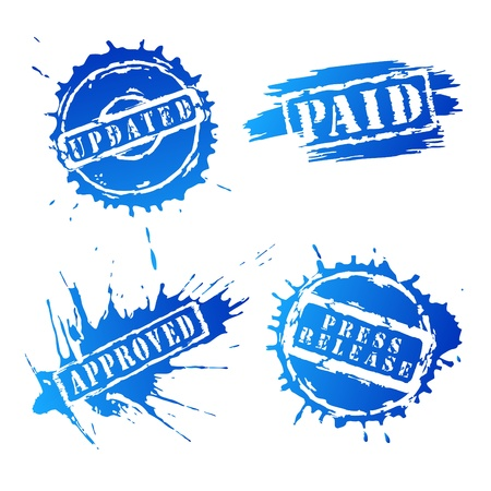 paid: Set of stamp vector