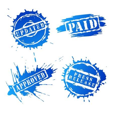 Set of stamp vector