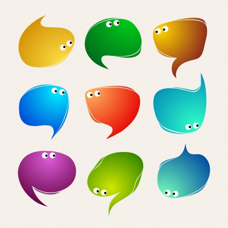 Speak bubbles vector Vector