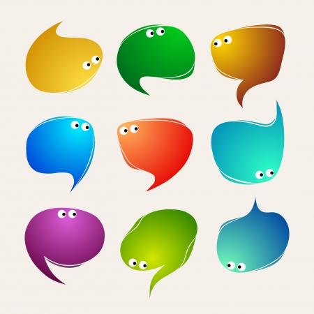Speak bubbles vector Vector