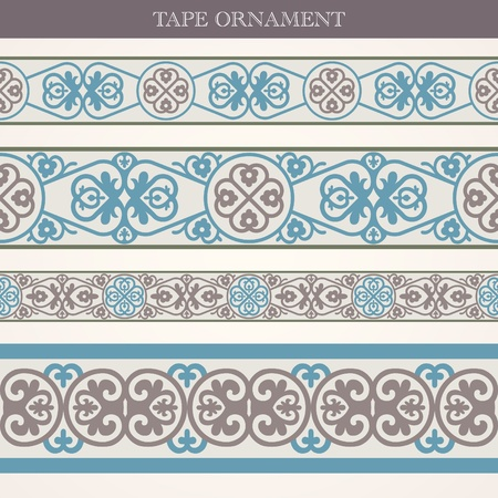 ancient india: tape ornament old style