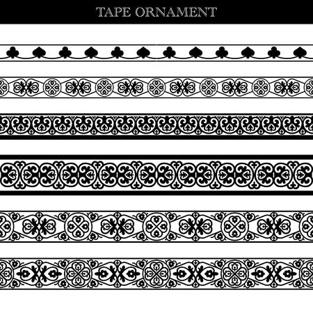 indien muster: Band Ornament im alten Stil
