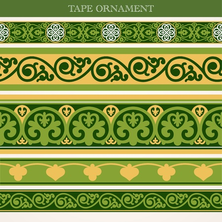 tape ornament old style Vector