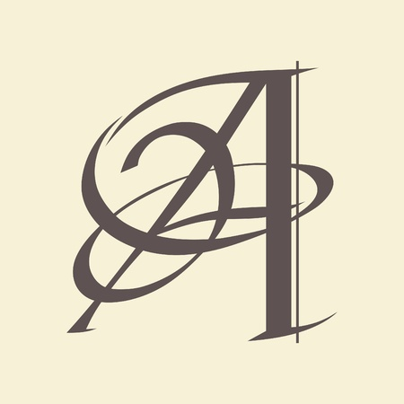 letras negras: Letra caligr�fica de dise�o vectorial Vectores