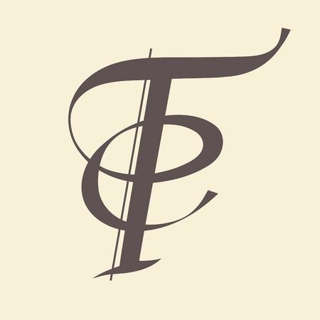 Calligraphic letter vector design Vector