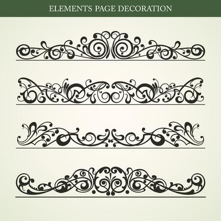 page decoration: Elementen pagina decoratie vector ontwerp Stock Illustratie
