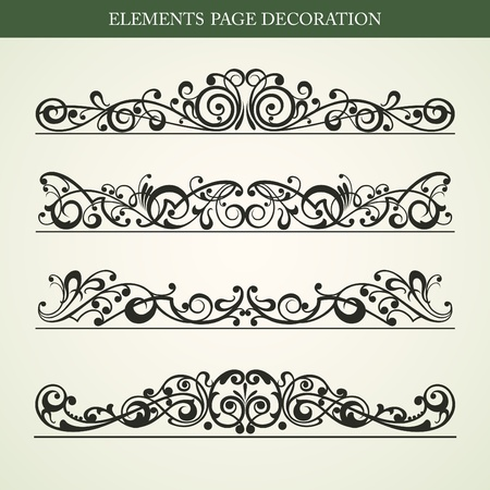 victorian: Elements page decoration vector design