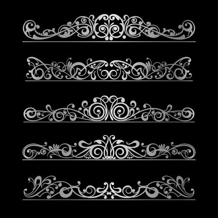 виньетка: Элементы страницы украшения вектор дизайн Иллюстрация