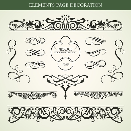 Elements page decoration vector design