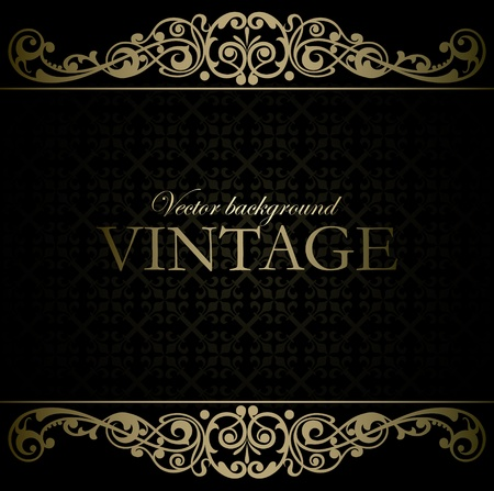 grunge frame: Vintage vector background Illustration