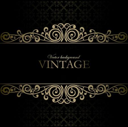 barok ornament: Vintage vector achtergrond