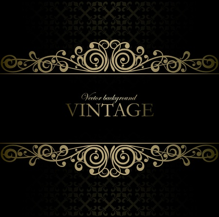 baroque background: Vintage vector background Illustration