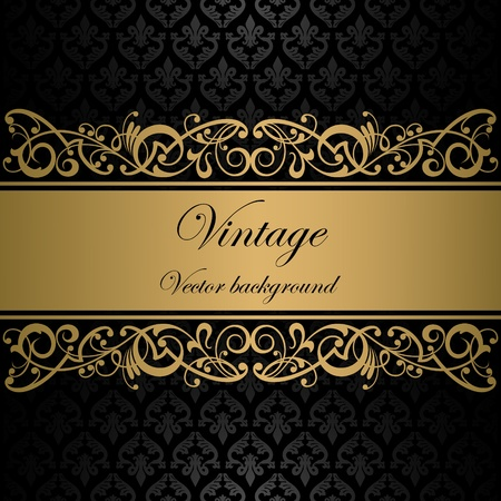 ornamental background: Vintage vector background Illustration