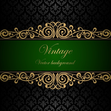 elegance: Vintage vector background Illustration