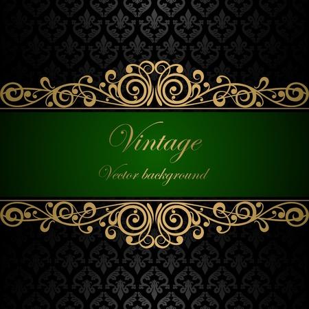 elegance: Vintage vector background Illustration