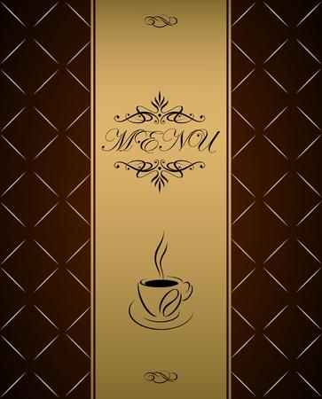 desayuno romantico: La cubierta del men� de dise�o vectorial