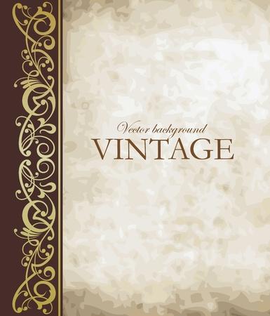 elegância: Vetor de fundo do vintage