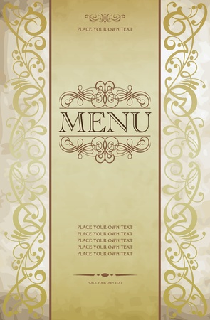 elegant design: Menu cover vector design Illustration