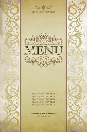 meny: Meny omslaget vektor utformning