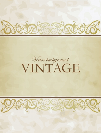 gold fabric: Vintage vector background Illustration